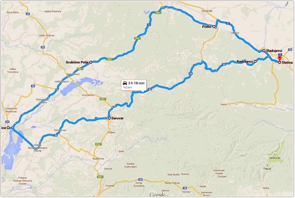 slatina_garesnica_daruvar_map